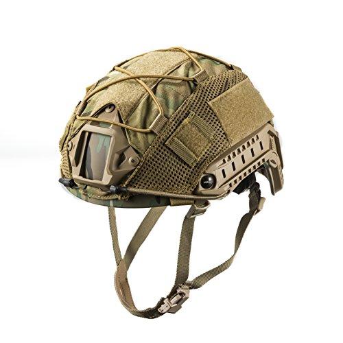 OneTigris - Funda protectora para casco táctico, cubierta para casco militar para M/L Ops de Core Fast PJ Casco