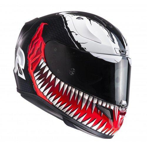 HJCRPHA 11 VENOM MC1 –Casco de moto M negro / rojo