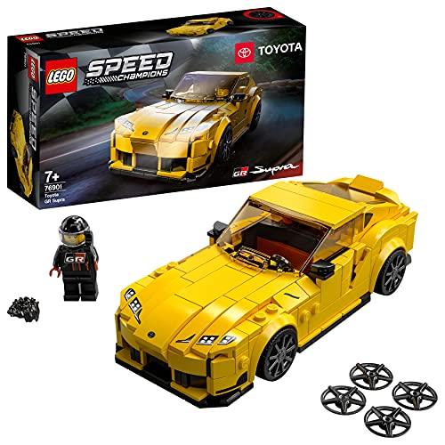 LEGO 76901 Speed Champions Toyota GR Supra, Coche Deportivo Coleccionable de Juguete para Construir para Niños +7 Años