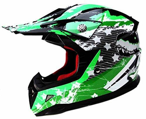 Casco Motocross Niño ECE Homologado - YEMA YM-211 Casco de Moto Infantil Cross Integral Enduro Infantil para Mujer Hombre Adultos, L