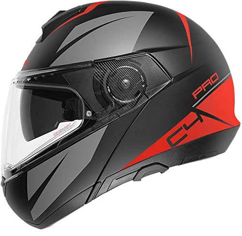 SCHUBERTH C4 Pro Casco para Moto, Accesorio Unisex para Adultos, Rojo Merak Red, 57 (M)