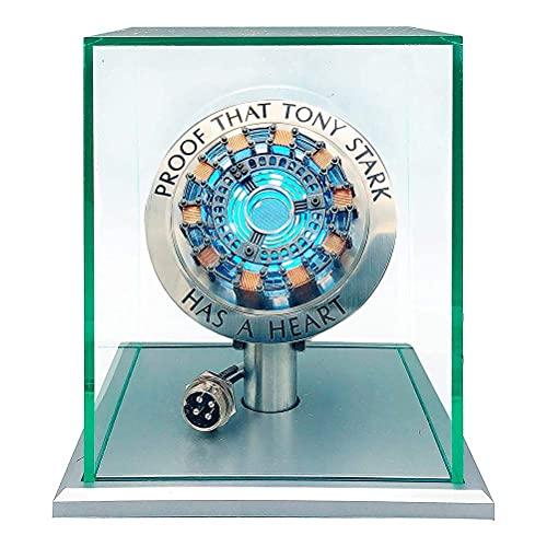 Hahepo 1: 1 para reactor de arco de Iron Man, figura de acción de juguete con luz LED