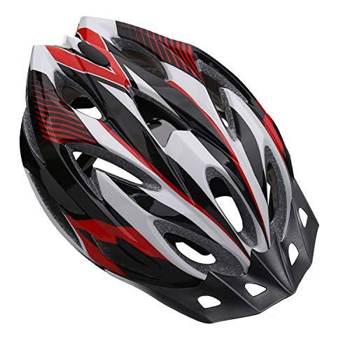 Shinmax Casco de Bicicleta Certificado CE Casco de Bicicleta para Hombre con Visera Desmontable Casco de Ciclismo Ligero Protección Seguridad Tamaño Ajustable Ciclismo Carretera Montaña Adultos