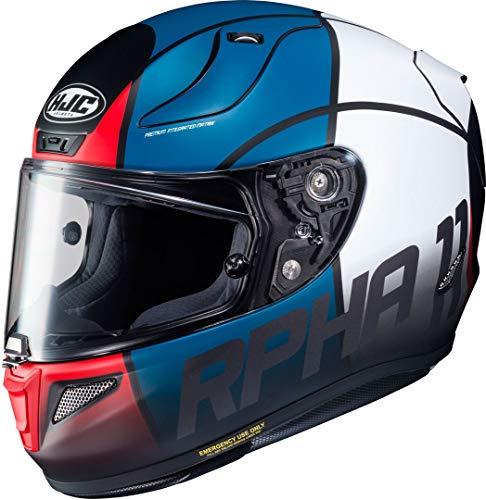 HJC Helmets 13892106 Casco de moto RPHA 11 QUINTAIN MC21SF, Negro/Azul/Blanco/Rojo, XS
