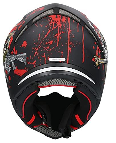 Casco Shiro SH-890 Broken Head Negro Mate Y Rojo EDICION Limitada HOMOLOGADO Unisex con PINLOK Incluido L