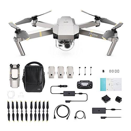 DJI Mavic Pro Platinum Fly More Combo - Dron Quadricóptero, Nivel de Ruido 4 dB, Duración de Batería en Vuelo 30 Minutos, Radio Control y Videocámara 4K, Rango 7 Km, Imagen 12 MP - Gris -[Versión UE]