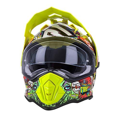 O'NEAL   Casco de Moto   Moto Enduro   Aberturas de ventilación para un máximo Flujo de Aire y refrigeración, Carcasa ABS, Visera Solar integrada   Sierra Helmet Crank   Adultos   Multi   Talla S
