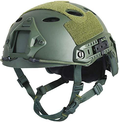Airsoft Fast PJ - Casco táctico superior Ops, núcleo protector, con almohadillas para el ocio al aire libre Paintball