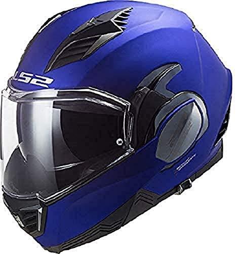 LS2, casco de moto modular VALIANT II azul mate, S