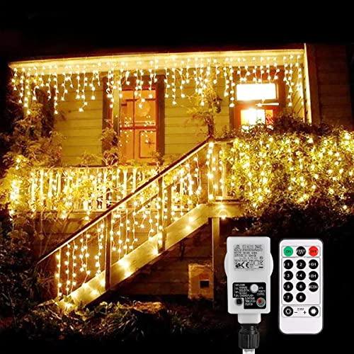 B-right Cortina de Luces, 480 LEDS,Cortina de Luces de Hada Interior, Cortina de Luz de LED para Decoración de Ventana, Patio, Balcón, Salón de Fiestas,Jardín,Bar, Día de San Valentín, Boda,etc