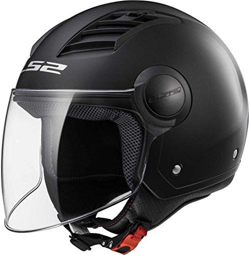 LS2 305625012XL Casco de Moto, Patente Negro, XL