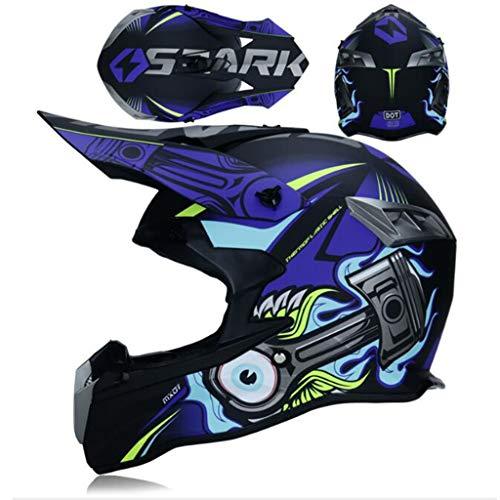 ZHHTT Cascos de Motocross, Casco ECE Dot ATV MX Amazon para Hombres y Mujeres, Utilizado para Off-Road/Racing/Mountain Bike/competición Profesional, 54-61cm (Color : Helmet 8, Size : L)