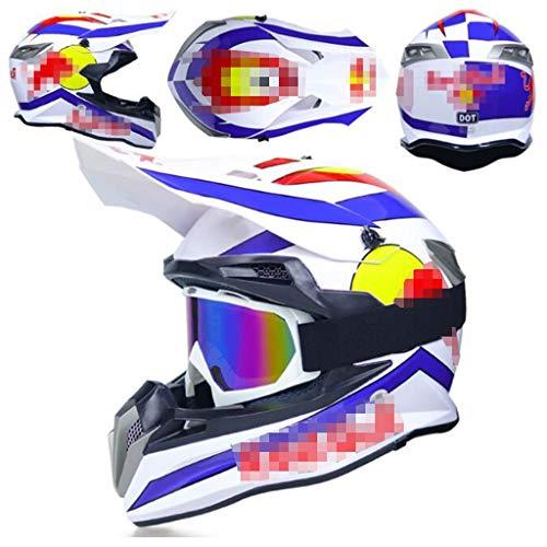 ZHHTT Cascos de Motocross, Casco ECE Dot ATV MX Amazon para Hombres y Mujeres, Utilizado para Off-Road/Racing/Mountain Bike/competición Profesional, 54-61cm (Color : Helmet 9, Size : M)