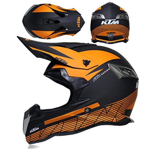 ZHHTT Cascos de Motocross, Casco ECE Dot ATV MX Amazon para Hombres y Mujeres, Utilizado para Off-Road/Racing/Mountain Bike/competición Profesional, 54-61cm (Color : Helmet 5, Size : XL)