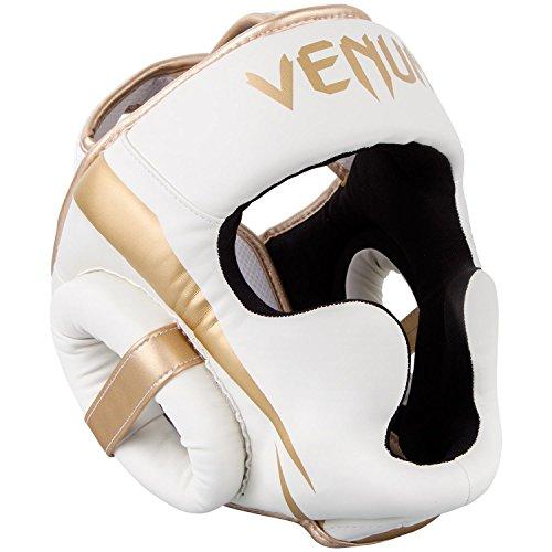 VENUM Elite Casco de Boxeo, Unisex Adulto, Blanco/Dorado, Talla Única