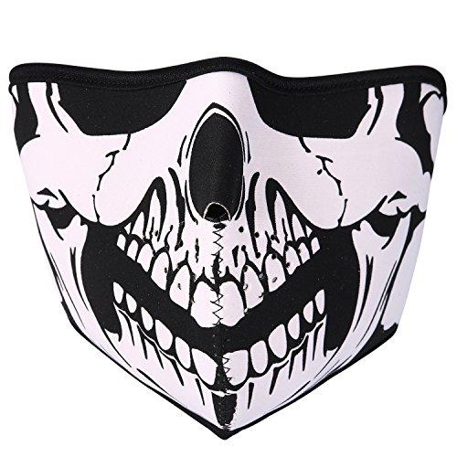 Jewelrywe La Máscara del pasamontañas cara del cráneo del fantasma máscara completa Cosplay Bufanda Estilo